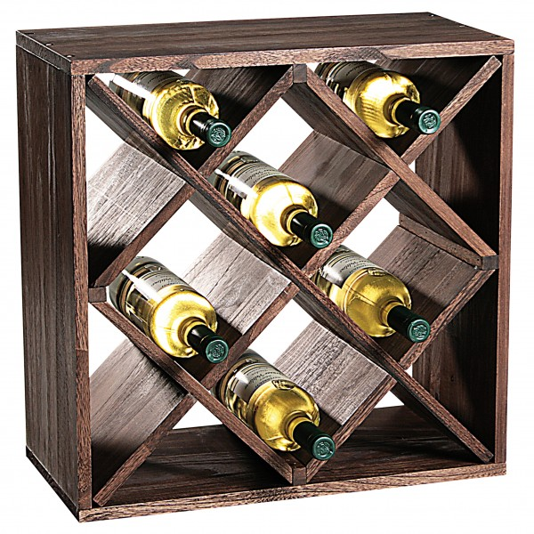 Weinflaschen-Regal Raute, 1 Stk
