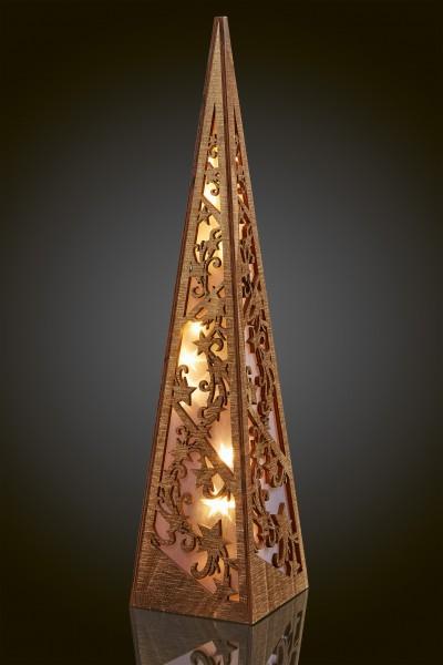 LED-Holzpyramide natur,1 Stk