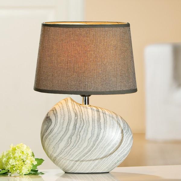 Gilde Handwerk Lampe mit Schirm Carrara, 2 Stk
