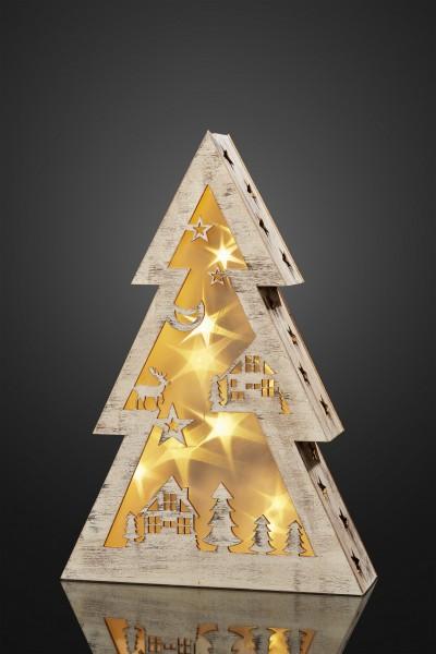 LED-Holztannenbaum, 1 Stk