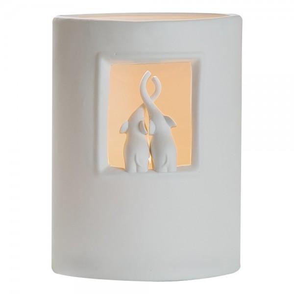 Gilde Handwerk Lampe mit verschiedenen Tiermotiven, 2 Stk