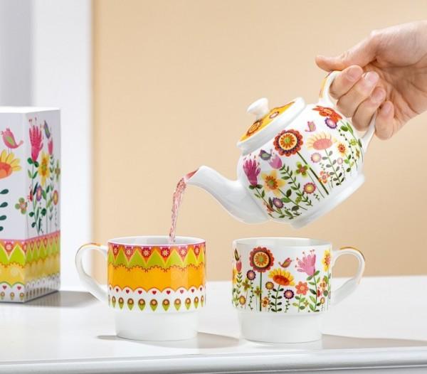 Gilde Handwerk Tea for two Blumengarten, 1 Stk