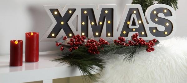 LED-Holzschrift XMAS, 1 Stk