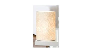 Gilde Handwerk Tischlampe Prickel Blume, 2 Stk