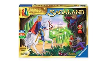Ravensburger 26424- Sagaland Gesellschaftsspiel für Kinder und Erwachsene, 2-6 Spieler,1 VE = 1 Sets
