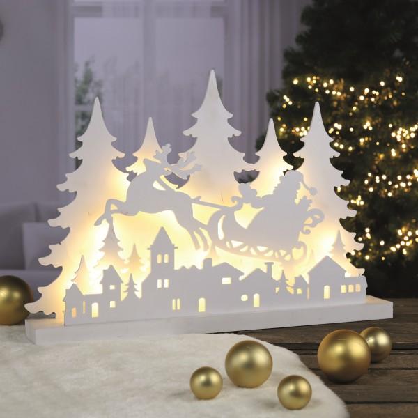 LED-Holzsilhouette mit Rentier, 1 VE = 1 Stück
