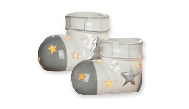 """Gilde Keramik-Aromabrenner Socke """"Banda"""", 1 VE = 6 Stück"""