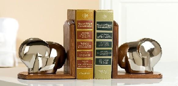 """Gilde Handwerk Buchstützen """"Elefant"""", 1 VE = 3 Sets"""