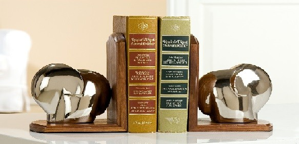 "Gilde Handwerk Buchstützen ""Elefant"", 1 VE = 1 Set"