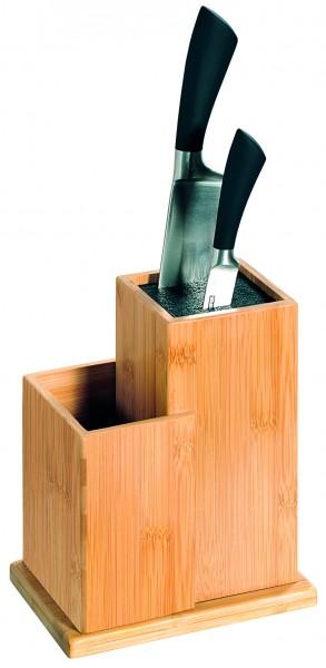 Kesper Messerblock mit Behälter für Küchenhelfer, 1 VE = 1 Stück