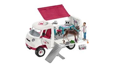 Schleich® Horse Club Mobile Tierärztin mit Hannoveraner Fohlen, 1 VE = 1 Set