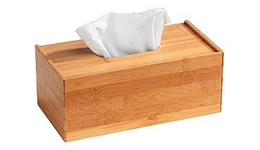 Wenko Bambus Kosmetiktuch-Box Terra, dekorative Box aus hochwertigem Bambus, 1 VE = 4 Stück