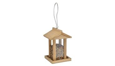 Vogelfutterhaus aus Holz, 1 VE = 12 Stück