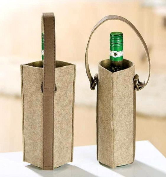 Gilde Handwerk Weinflaschenhalter Filz
