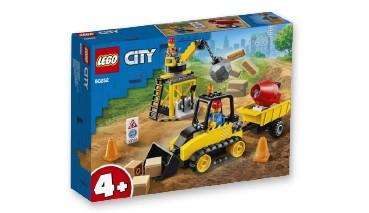 LEGO® City 60252 Bagger auf der Baustelle, Baustellen-Set für Kinder ab 4 Jahren, 1 VE = 6 Stück