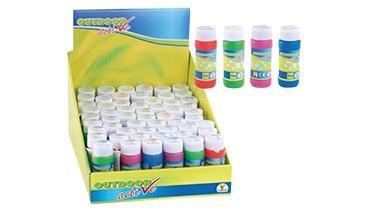 Outdoor active Seifenblasendosen, 4-farbig sortiert, 1 VE = 48 Stück