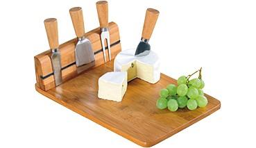 Kesper® Käseschneidebrett mit 4-tlg. Besteck, 1 VE = 1 Set