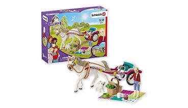 Schleich Horse Club 42467 Kutsche für Pferdeshow, für Kinder ab 5 Jahren1 VE = 1 Sets