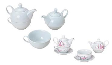 Teekannen-Set aus Porzelan, 1 VE = 4 Sets
