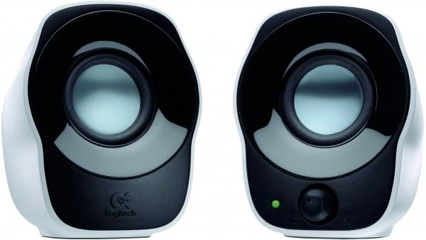 Logitech Z120 2.0 PC-Lautsprecher Kabelgebunden 1.2W Weiß, Schwarz, 1 VE = 1 Set