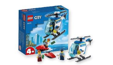 LEGO® City 60275 Polizeihubschrauber Sets: enthält robusten Spielzeug-Polizeihubschr, 1 VE = 4 Stück