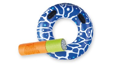 Set: Splash & Fun Schwimmring mit Griffen inkl. 1Miniwasserkanone 1 VE = 6 Stück