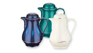 ROTPUNKT® Isolierkanne 330 Christa 1,0 l, Farbe: weiß, Shiny Hummingbird, Shiny Blu, 1 VE = 6 Stück