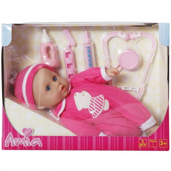 Amia Doktor-Puppe mit Zubehör, 1 VE = 1 Stück