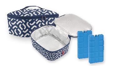 Reisenthel Coolerbag pocket, ideale Kühltasche für Lunch, Snacks und 2 Kühlakkus, 1 VE = 6 Stück
