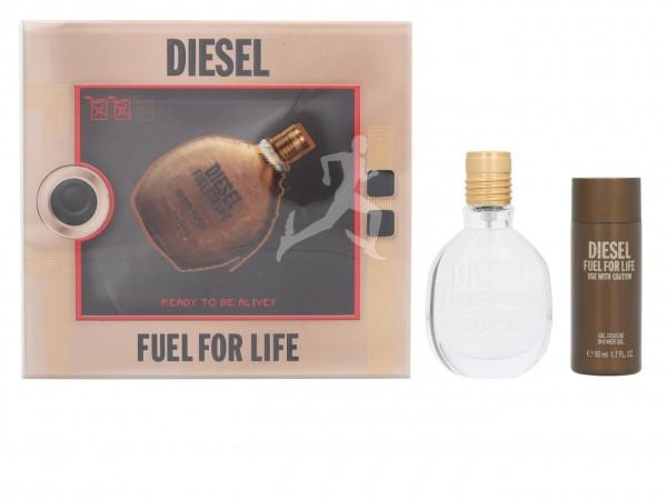 DIESEL FUEL FOR LIFE POUR HOMME GIFTSET, EdT 30 ml und Duschgel 50 ml, for Man 1 VE = 1 Stück