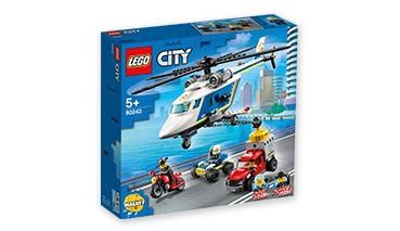 LEGO® CITY 60243 Verfolgungsjagd mit dem Polizeihubschrauber, 1 VE = 1 Set