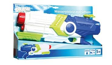 Splash & Fun Wasserpistole mit Pumpfunktion, 1 VE = 1 Stück